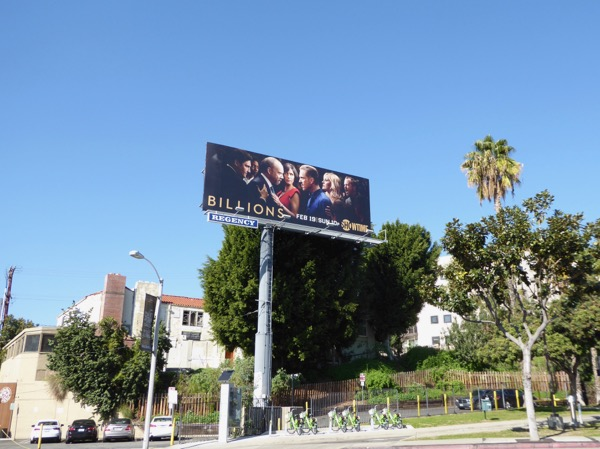 Billions season 2 billboard Sunset Strip