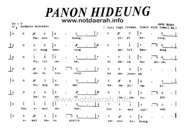 Not Angka Panon Hideung