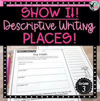 Show It Descriptive Writing Places Teachers Pay Teachers Resource