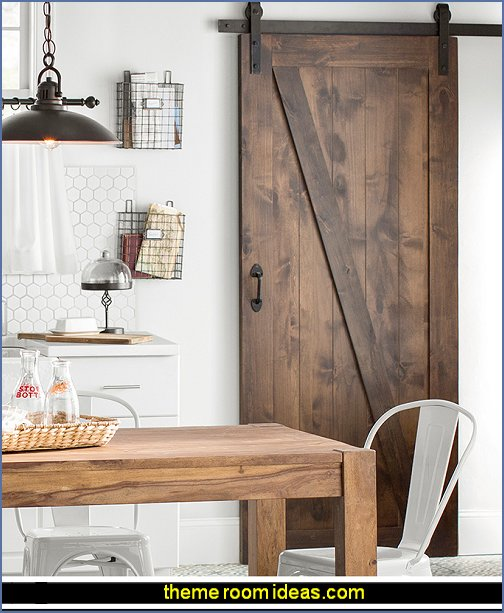 INDUSTRIAL FARMHOUSE KITCHEN BARN DOOR  rustic industrial farmhouse decorating - Industrial farmhouse decor - rustic farmhouse decor - industrial farmhouse living - barn door decor - rustic farm style deccor -  Modern Farmhouse decor - Sliding barn Doors - modern industrial farmhouse decorating - Windmill Table Decor