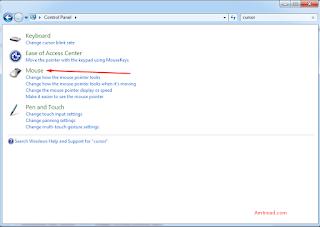 Klik mouse menu