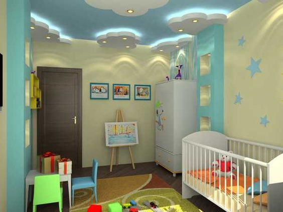 POP design - false ceiling designs for kids bedroom