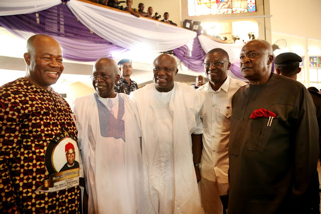 Picture: Gov. Ambode attends funeral service of late Dr. Alex Ekwueme in Oko, Anambra