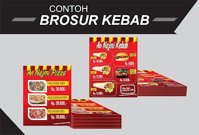 contoh brosur kebab, brosru kebab keren