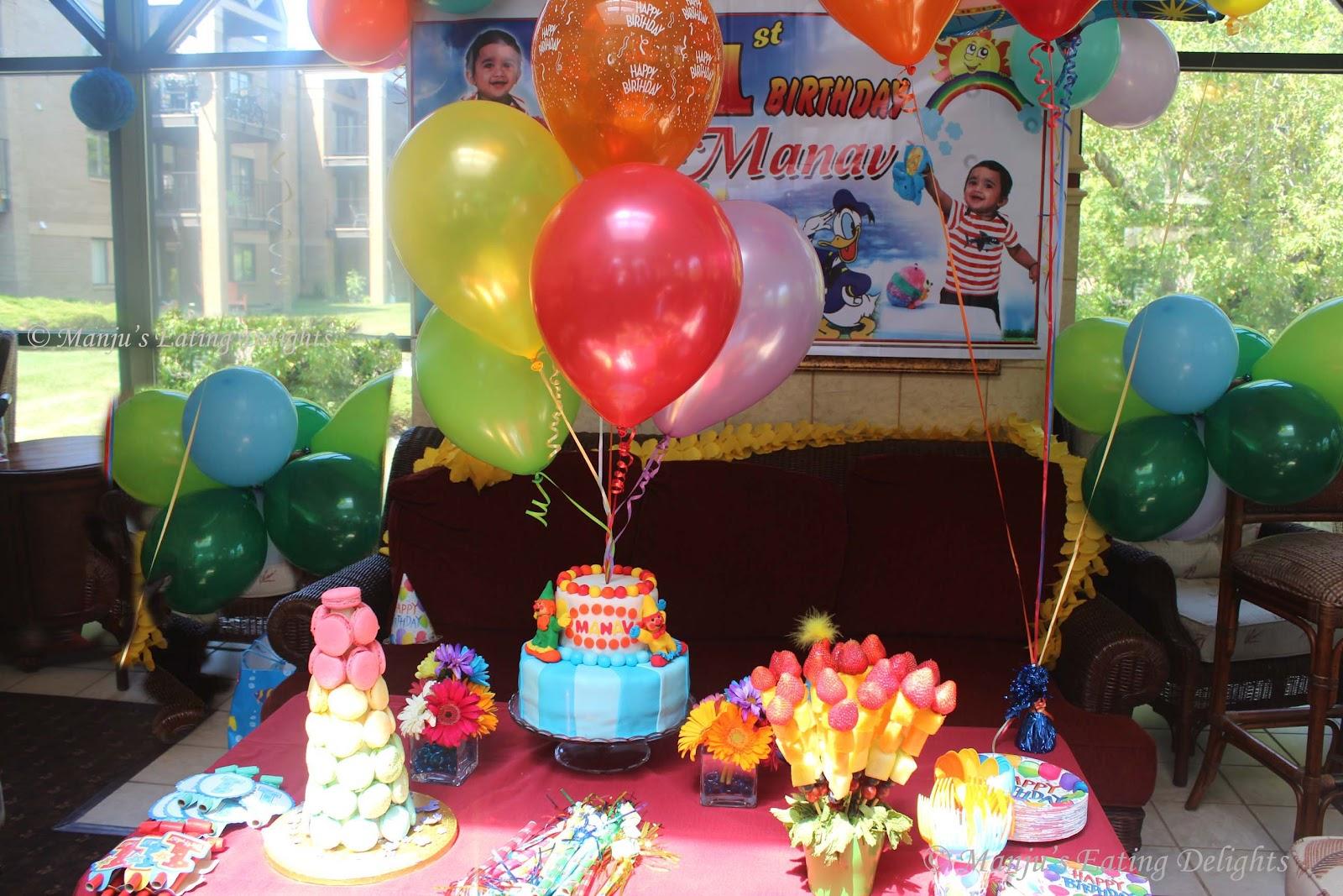 Manjus Eating Delights A Rainbow Birthday PartyManav Turns 1
