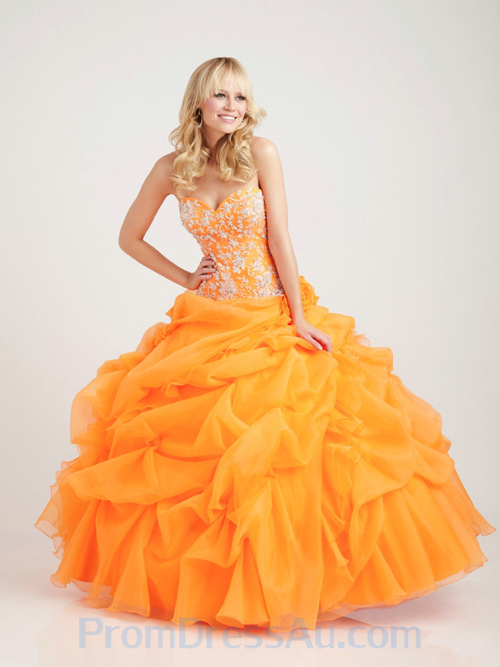 Orange Quinceanera Dress... Very Cute 15 Dresses