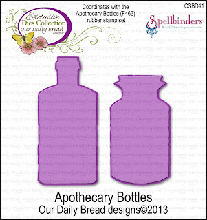 Our Daily Bread Designs Custom Apothecary Bottles Dies