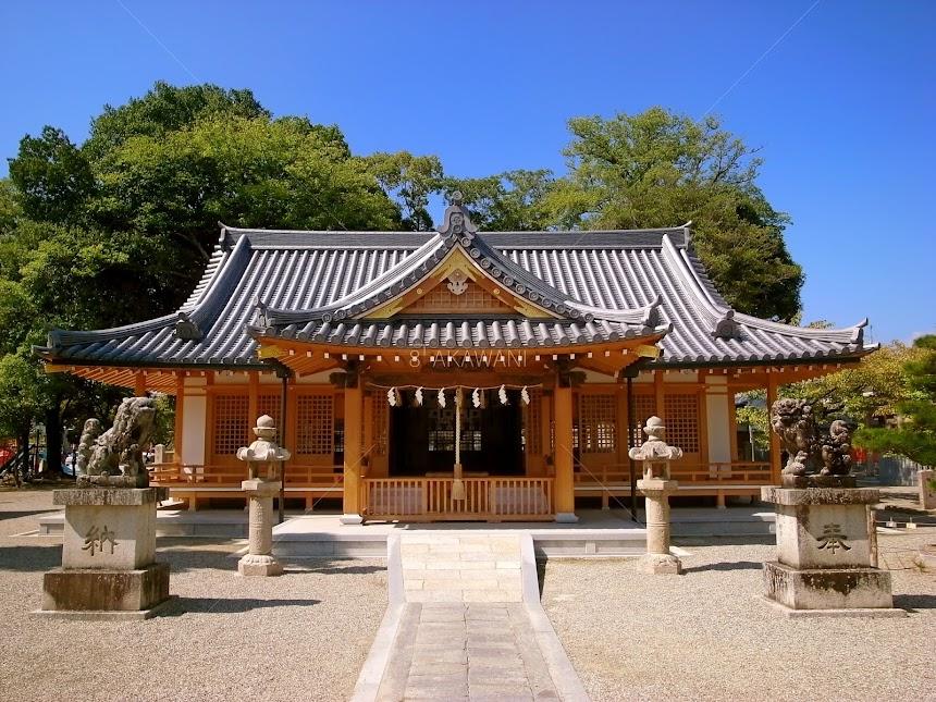 奈良県田原本町 津島神社 ブリキ屋の飾り仕事 祇園社 拝殿 散らし金物と隅木金物