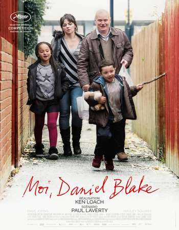 Poster Of I, Daniel Blake 2016 English 450MB BluRay 720p ESubs HEVC Free Download Watch Online Downloadhub.in