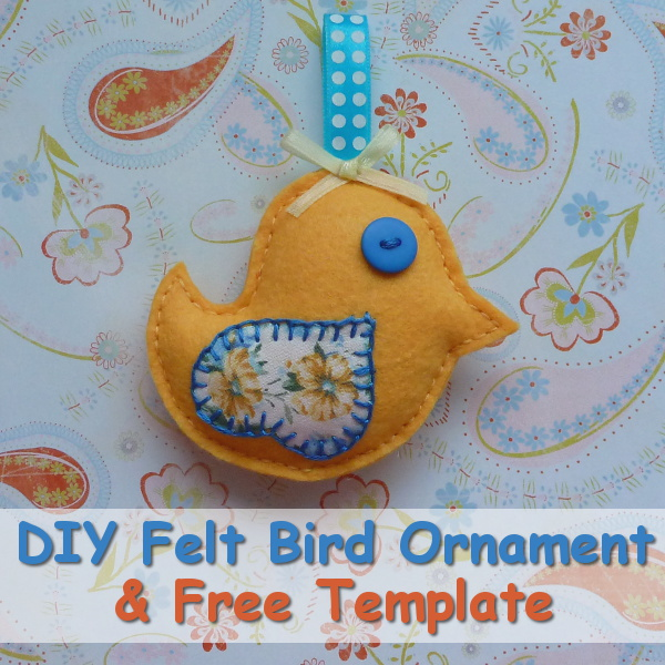 How to Make a Felt Bird Ornament Tutorial With Free Printable Pattern CraftyMarie