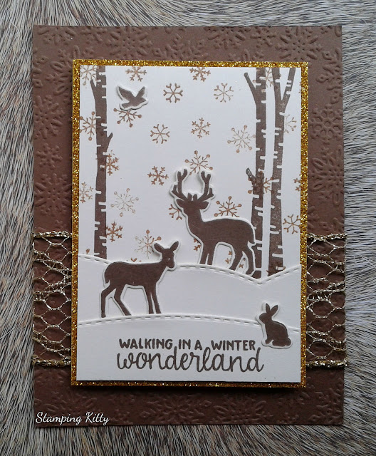 Walking in a Winter Wonderland by Stamping Kitty features Serene Silhouettes stamp and dies by Newton's Nook Designs; #newtonsnook
