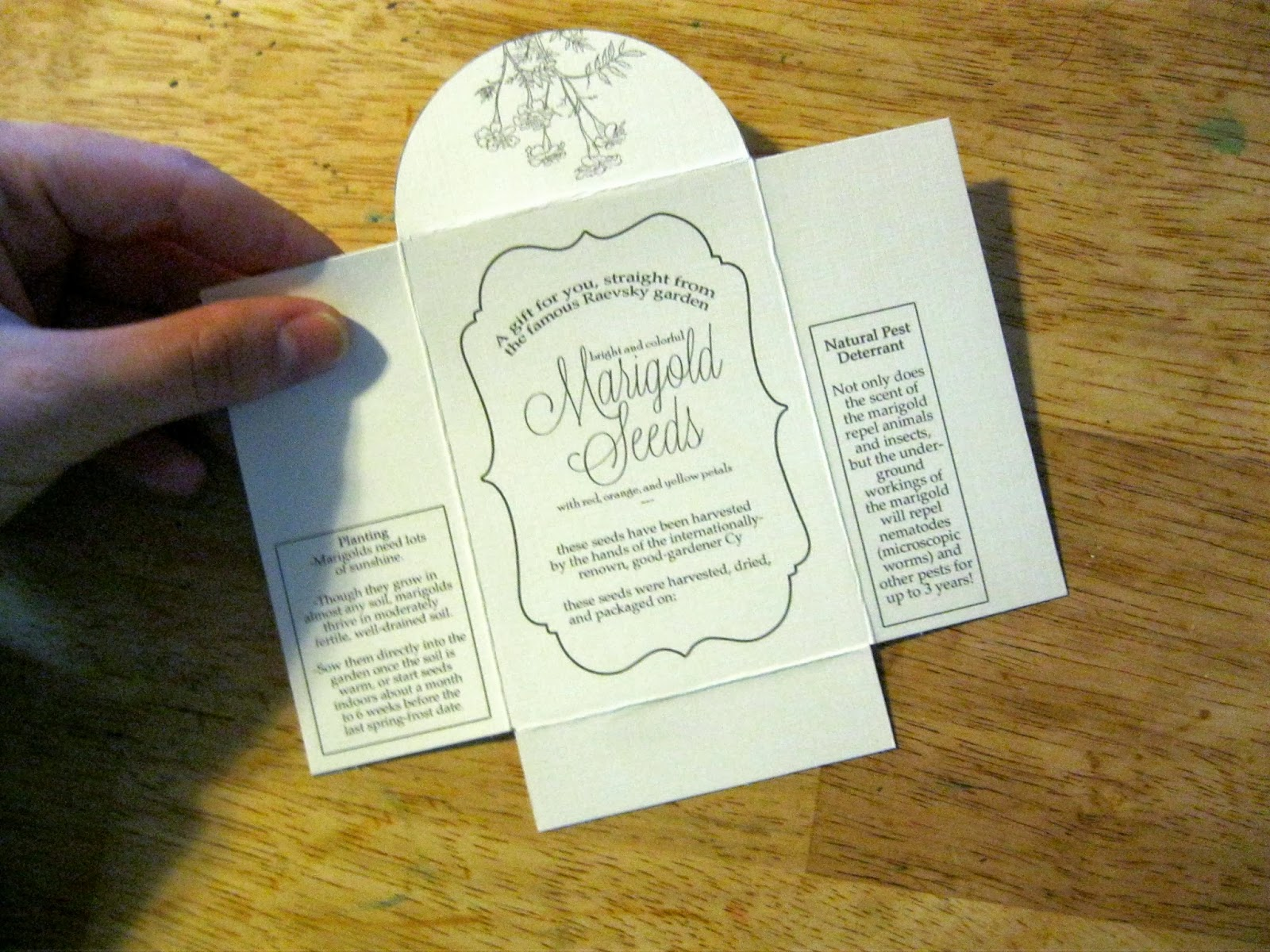 Printable Seed Packets A Able Template And Tutorial