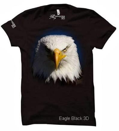 kaos 3d eagle black