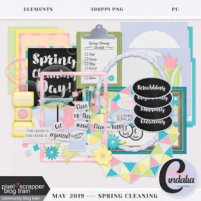 Digital, Scrapbooking, Free, Freebie, Pixel Scrapper, Blog Train, Spring, May, 2019, flowers, labels, frames