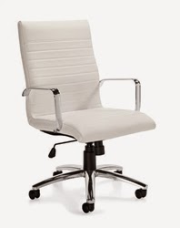 White Leather Office Chairs