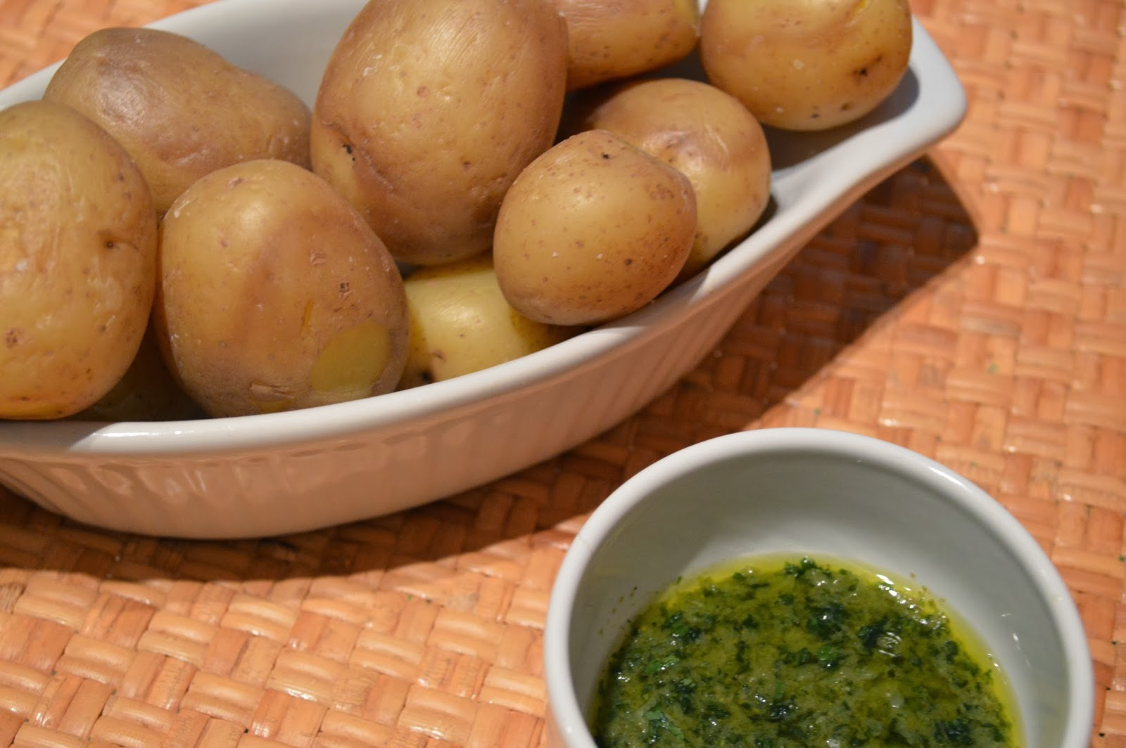 Canarian Potatoes with Green Mojo Sauce