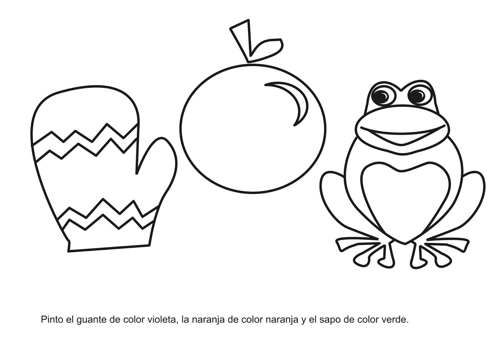 Pagina Para Colorear De Preescolar En Color Para Con: Trabajando En El Nivel Inicial: Aprendiendo Los Colores