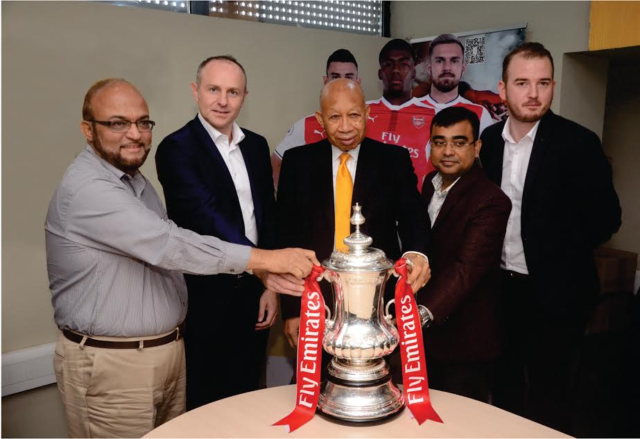 1 Arsenal Lands In Nigeria With FA Cup, Visits MTN Head Office In Lagos (Photos)