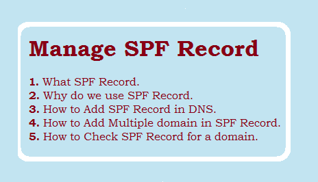 Manage SPF Record - How to add Spf Record?