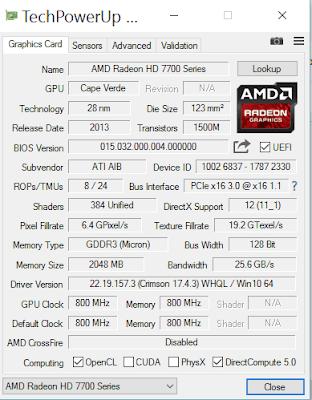 CEK VGA GPU-Z