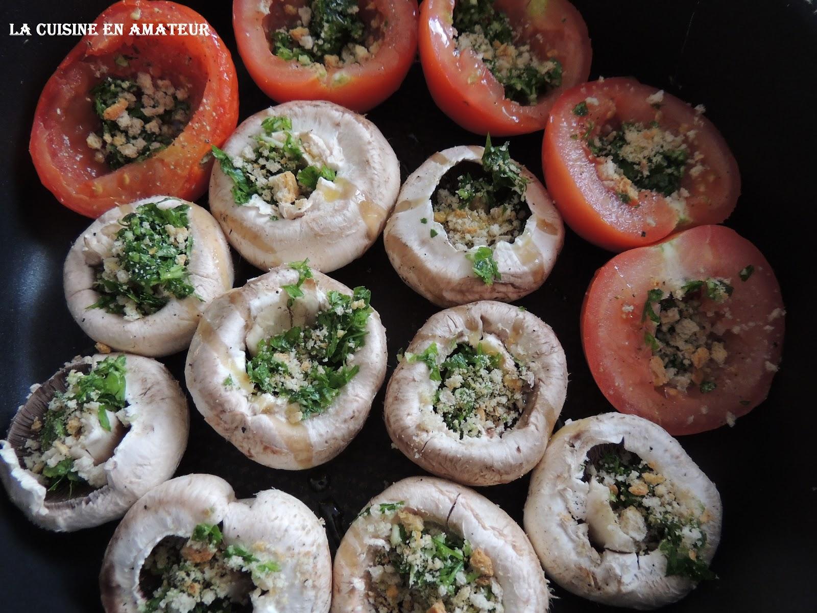 la cuisine en amateur de maryline tomates et champignons la proven ale la po le. Black Bedroom Furniture Sets. Home Design Ideas