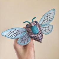 Cicada brooch by Molly Burgess Designs.