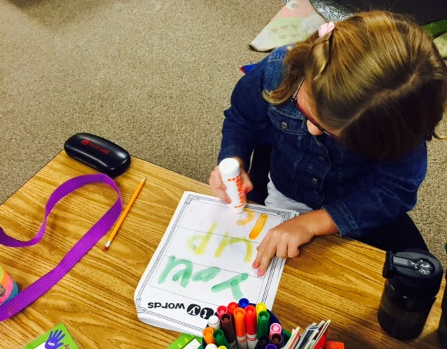word work; work on words; first grade