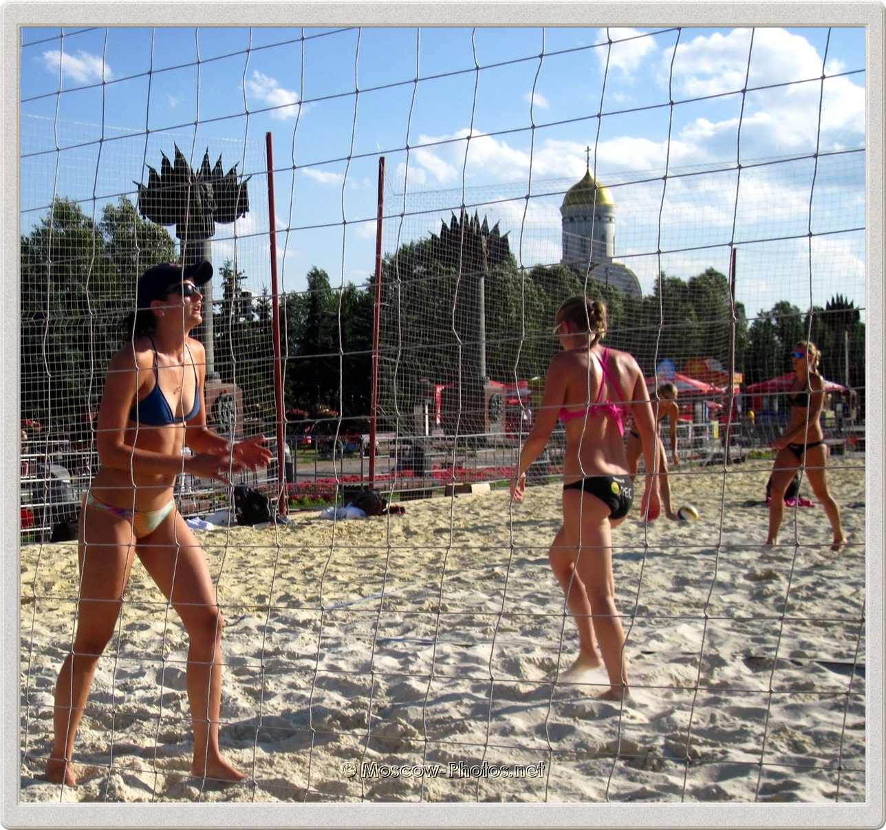 Beach Volleyball Girls In Moscow