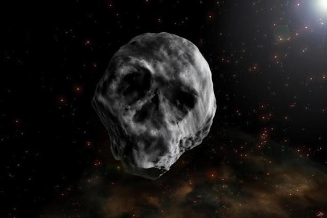 """Ilustração do """"Asteroide Hallowween"""""""