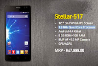 Compare Spice Stellar 517 with Lava Iris Selfie 50 - Specs and Price