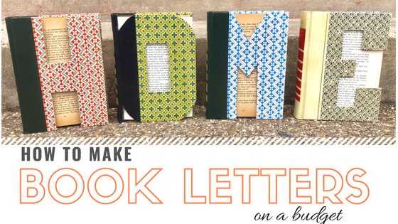 How To Make Book Letters