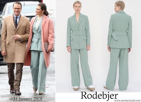 Crown Princess Victoria wore RODEBJER blazer anitalia suit