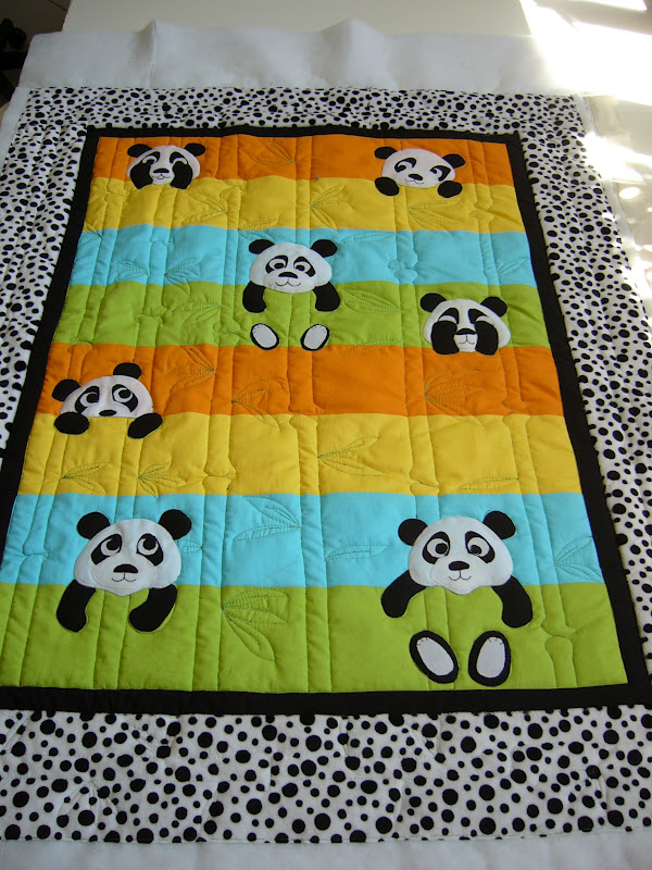 Caledonia Quilter Cheering Up With A Baby Quilt