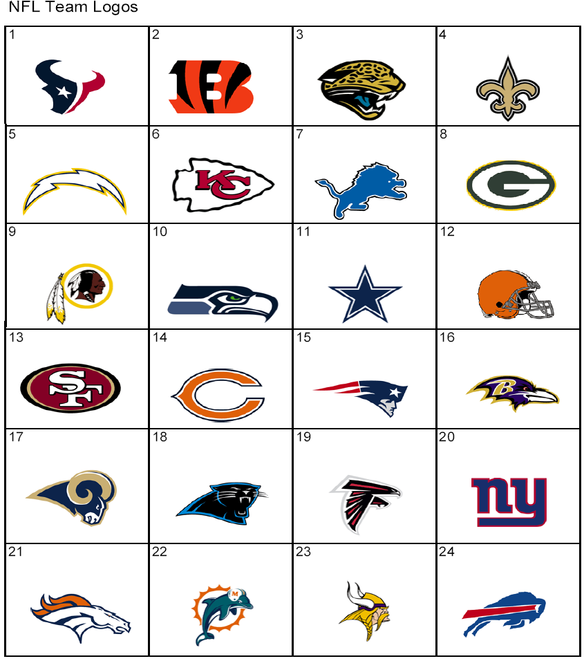 Nfl Team Names With Symbols