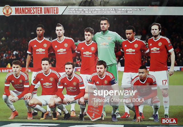 POSTER TEAM MANCHESTER UNITED EUROPA LEAGUE 2016