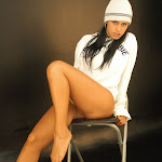 Andrea Rincon, Selena Spice Galeria 19: Buso Blanco y Jean Negro, Estilo Rapero Foto 86