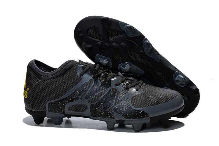 ccf1587a Billige Fotballsko Shop Adidas X 15.1 FG AG Fotballsko Svart Solar SOLAR Gul