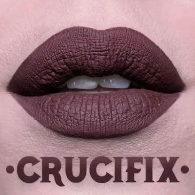 kat von d Everlasting Liquid Lipstick lip swatch crucifix