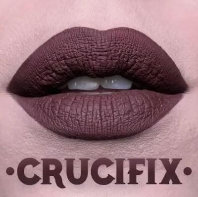 kat von d Everlasting Liquid Lipstick lip swatch crucifix