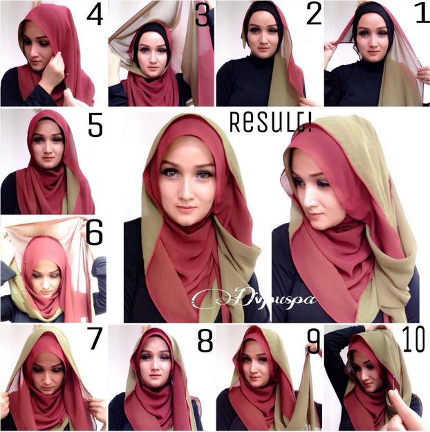 Cara Memakai Hijab SEGI TIGA