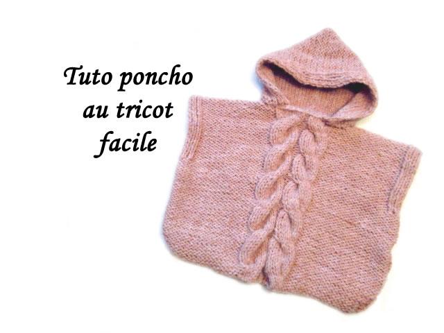 les tutos de fadinou tuto poncho a capuche au tricot facile. Black Bedroom Furniture Sets. Home Design Ideas