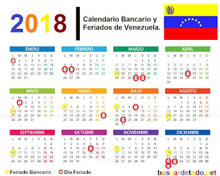 Lunes-bancarios-Días-festivos-de-Venezuela-en-el-2018-Días-feriados-de-Venezuela-en-el-2018-Calendario-bancario-de-Venezuela-2018