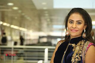 Telugu Actress Sri Reddy Mallidi Stills in White Beautiful Dress at Marriage Needs Bridal Fashion Week 2017 Logo Launch  0188.JPG