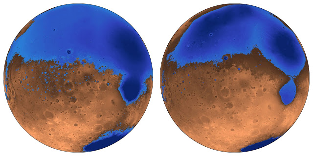 Mars' oceans formed early, possibly aided by massive volcanic eruptions
