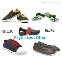 Paytm Loot - Buy Globalite Slippers at Rs.70 and Shoes at Rs.120 only