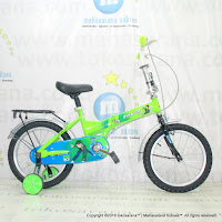 16 Evergreen EG116 Ben 10 Kids Folding Bike Green