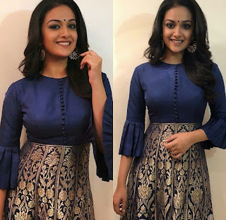 Keerthy Suresh in Blue dress soo pretty