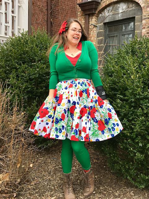 trashy diva wildflowers gathered mini skirt