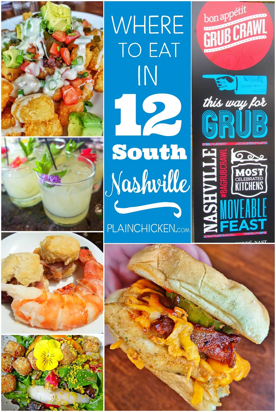 Where to Eat in Nashville, TN - 12 South neighborhood. Nashville's hottest neighborhood! You don't want to miss these places! Urban Grub, Epice, The Flipside and Josephine. SO much great food!