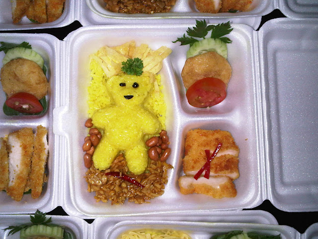 Japanese Bento Picture and Ideas: Bento Beruang Nasi Kuning